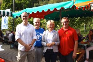 Neben dem Vorsitzenden des Kinderschutzbundes Aschaffenburg Dr. Detlev Koth und Schirmherrin MdL Martina Fehlner waren auch Andreas Schneider und Uwe Flaton vom SPD-Ortsverein Damm gerne mit dabei.