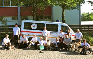Insgesamt 18 Hunde sind bei der Aschaffenburger Rettungshundestaffel zurzeit im Training