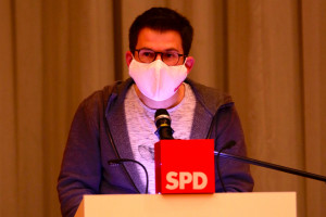 Der stellvertretende Unterbezirksvorsitzende Simon Dümig