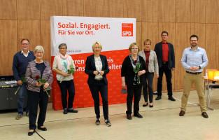 Im Rahmen des Parteitages wurden u.a. die langjährigen SPD-Kreisrätinnen und SPD-Kreisräte Gerd Aulenbach aus Rothenbuch, Heidrun Schmidt aus Haibach, Karin Fassler aus Hösbach und Karin Nees aus Mömbris verabschiedet.