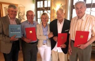 Mitgliederehrung SPD-Goldbach mit Ehrengast MdL Martina Fehlner