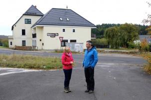 Erste Station der Exkursion war der Bischborner Hof an der B26