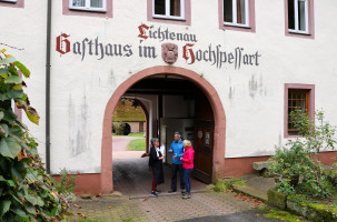 Das Gasthaus Hochspessart in der Lichtenau ist ein beliebtes Ausflugsziel für Tagestouristen, Wanderer und Radfahrer.