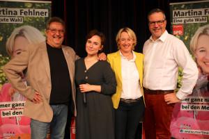 Stefan Sauer, Nina Olschewski, MdL Martina Fehlner und Johannes Scherer