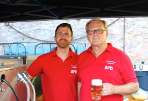 Veit Kolb und Peter Stoll, Vorsitzender SPD Schweinheim-Gailbach