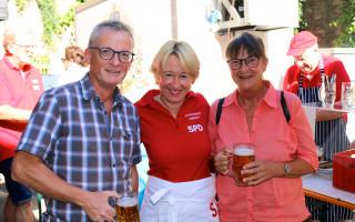 Auch Stephan Steyer, Vorsitzender SPD-Stadtmitte, war mit seiner Frau zu Besuch