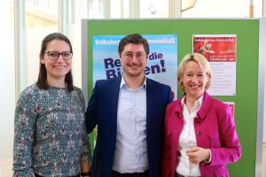 """Auch der SPD-Stadtverband unterstützt das Volksbegehren """"Artenvielfalt: Sophie Peter und Manuel Michniok"""