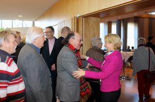 MdL Martina Fehlner begrüßte die Gäste persönlich