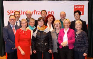 Mitglieder der SPD-Kreistagsfraktion und des SPD-Kreisverbandes Aschaffenburg