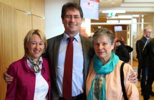 Die SPD-Kreisräte Karin Fassler und Wolfgang Jehn
