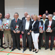 Unterbezirksvorsitzende Martina Fehlner mit beim Parteitag geehrten Mitgliedern