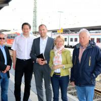 Informationsgespräch bei der Westfrankenbahn