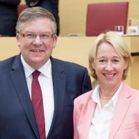 Die unterfränkischen SPD-Landtagsabgeordneten Martina Fehlner und Volkmar Halbleib
