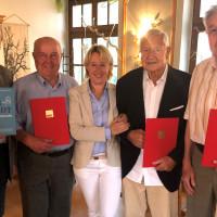 (v.l.n.r.): Herbert Rettinger, OV-Vorsitzender, Helmut Windischmann, Martina Fehlner MdL, Günther Seide, Ottmar Heeg