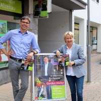 Martina Fehlner MdL mit BM-Kandidat Gordon Hadler